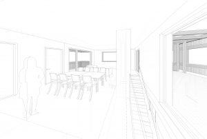 Einfamilienhausbau mit Geschäftsräumen