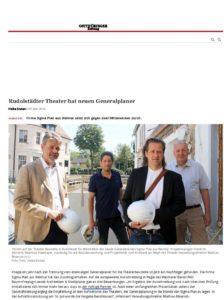 Zeitungsartikel, Theater Rudolstadt, über Sigma Plan Weimar GmbH